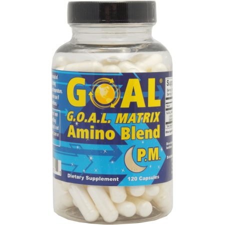 GOAL - G.O.A.L. MATRIX Amino Acids Blend PM 120 Capsules - Best NO Supplement Tablets L-Glycine L-Ornithine L-Arginine L-Lysine Combination Anti-Aging Blend - Nitric Oxide Boosters for Men and