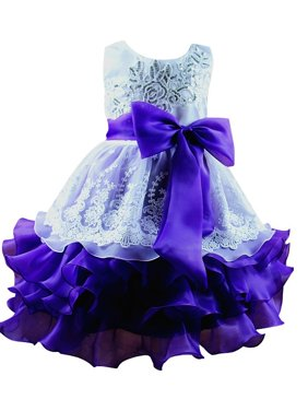 Toddler Girls Princess Lace Flower Dress Party Wedding Formal Tutu Dresses