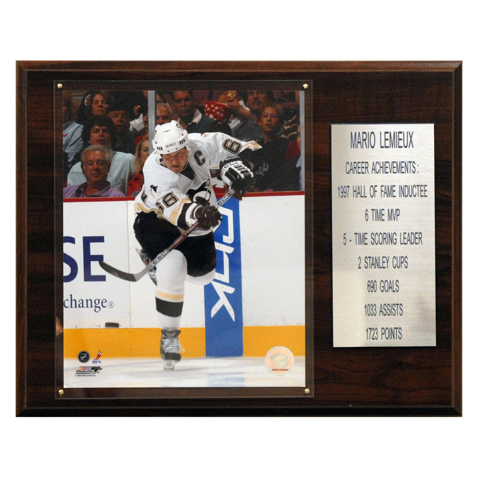 C&I Collectables NHL 12x15 Mario Lemieux Pittsburgh Penguins Career Stat Plaque