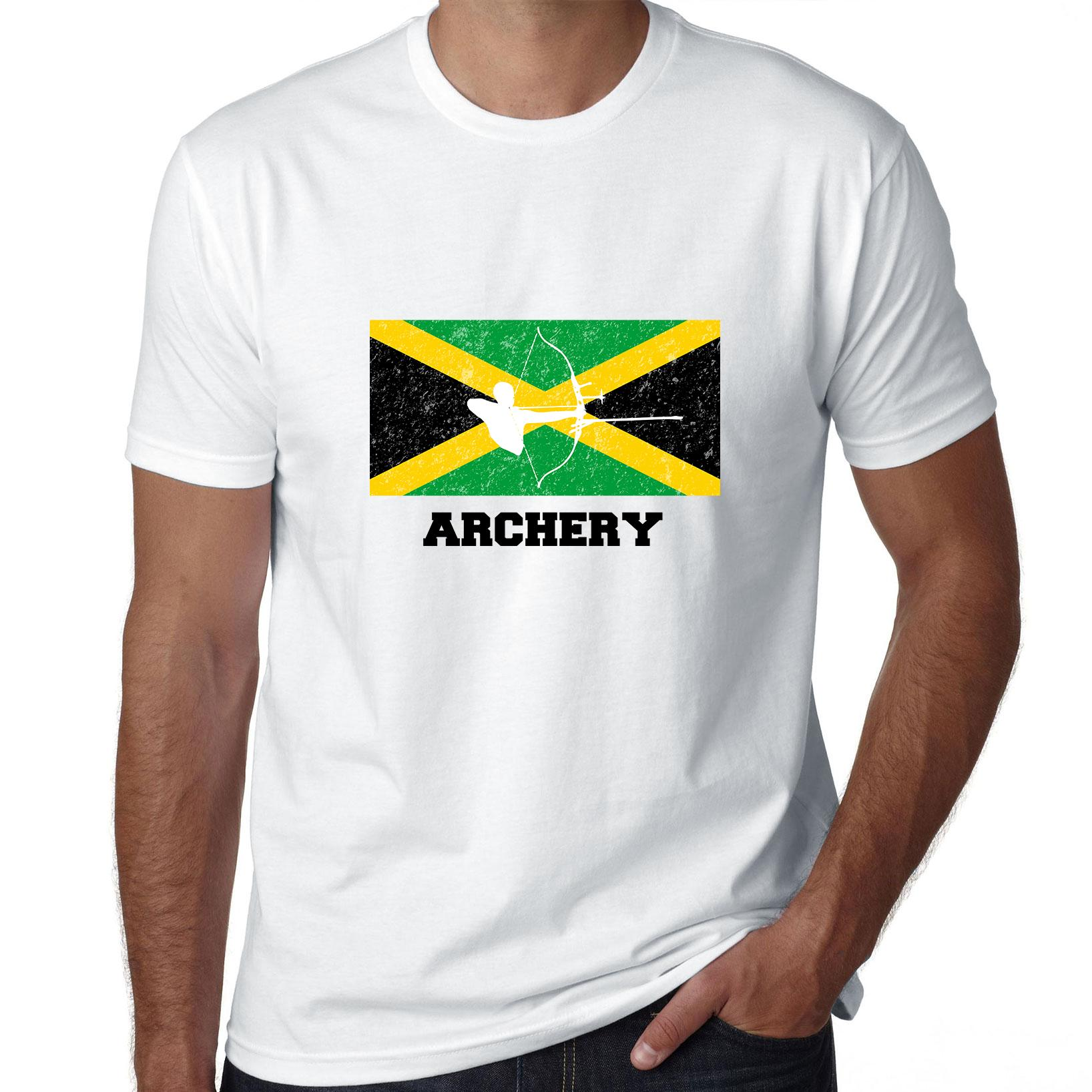 Jamaica Olympic - Archery - Flag - Silhouette Men's T-Shirt