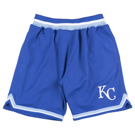 Mitchell And Ness Kansas City Royals Playoff Win Shorts Baseball Mesh Mlb Blue
