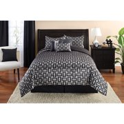 Mainstays Full/Queen 7pc Geometric Jacquard Comforter Set