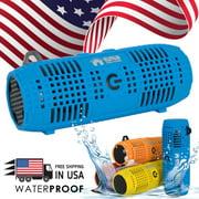 EMB Rechargeable Waterproof Bluetooth Speaker Outdoor Wireless 10 Hrs - Blue