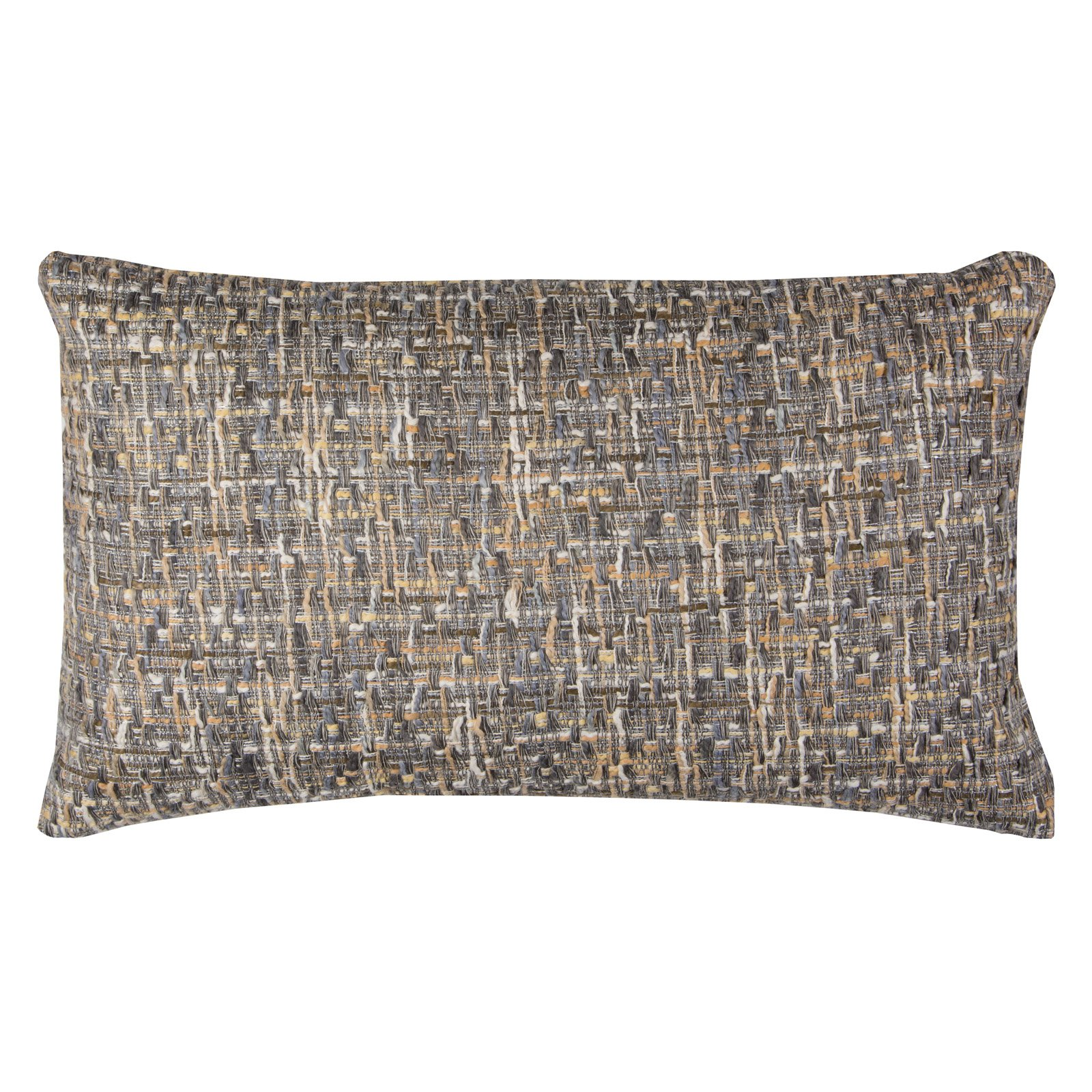 """Rizzy Home ALL OVER THREADED PATTERN14"""" x 26""""Cottondecorative filled pillow"""