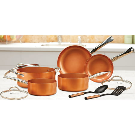 Copper Chef Pan Set, 10 Piece (Ceramic Chefs)