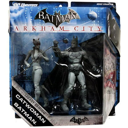Black & White Batman & Catwoman Action Figure 2-Pack [Black & White]