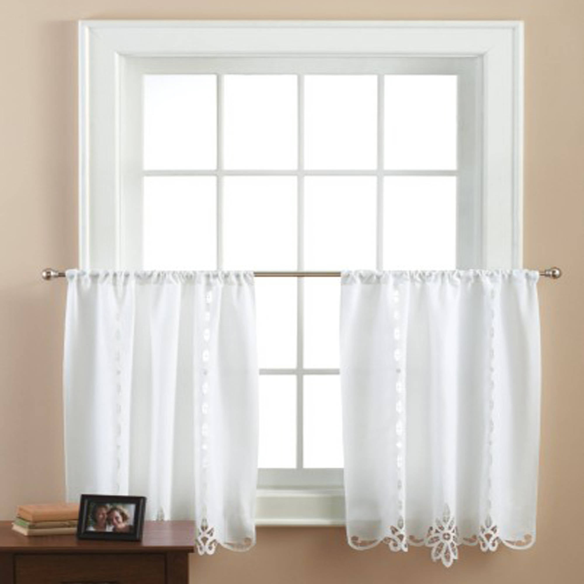 White Lace Swag Kitchen Curtains White Lace Kitchen Curtains