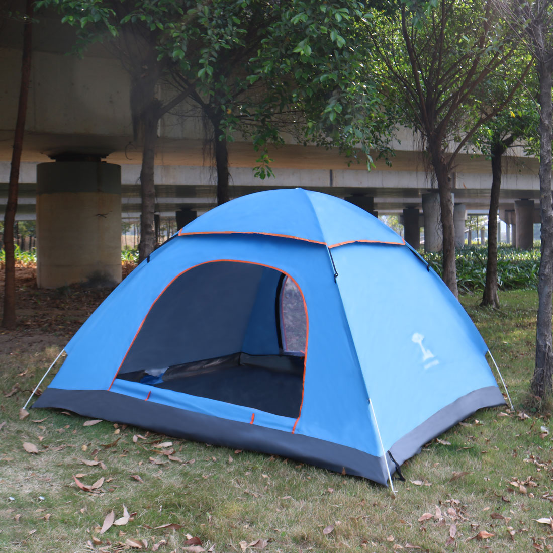 Pop Up 3 Person Dome Tent For Camping Hiking Beach Sun