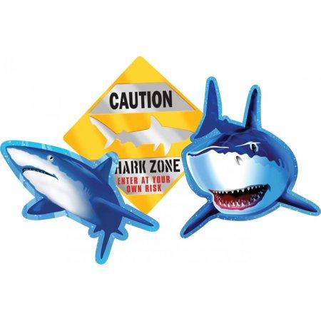 Creative Converting Shark Splash Cutout Assortment, 3 ct - Shark Cutouts