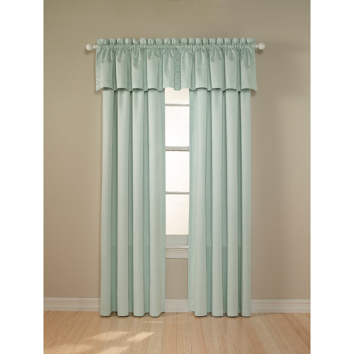 Perfect Darkness - Suede Black-Out Curtain Panel, Baby Dot Print Baby Blue