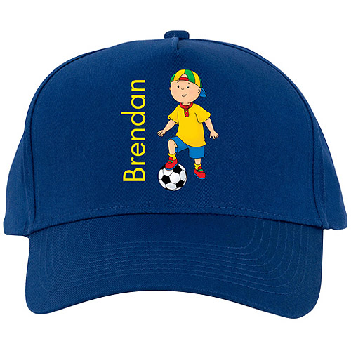 Personalized Caillou Soccer Season Blue Baseball Cap