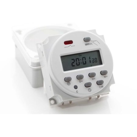 Professional LCD Electronic Digital Power Programmable Time 16A 4 4VA Time  Relay Switch EN60730-1
