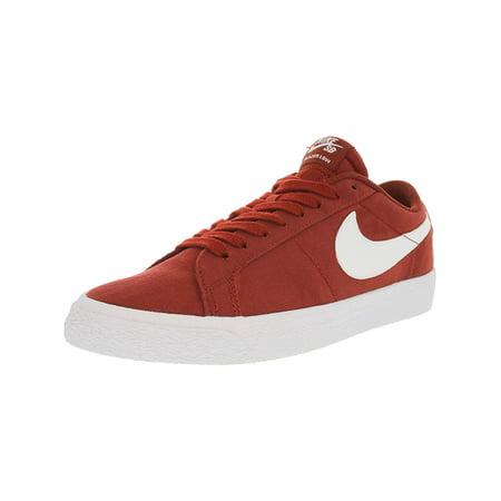 new arrivals 641bd 8484f Nike Men s Sb Blazer Zoom Low White   Palm Green Top Canvas Skateboarding  Shoe - 10.5 ...