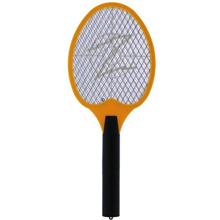 Electric Mosquito Swatter For Indoor And Outdoor Insect Control KORAMZI F-5 (Yellow) - New