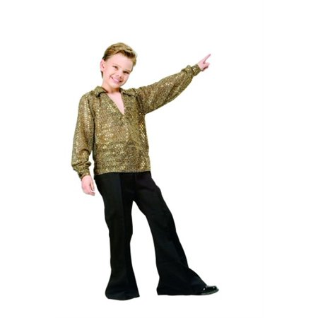 // Disco Fever Boy Shirt Costume - Silver or  Gold// - Kids Disco Costume