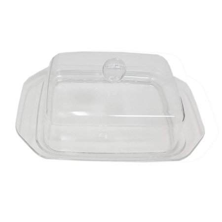 Butter Dish Acrylic With Clear Cover Knob Plastic Tray  Design (Acrylic Letter Dishes)