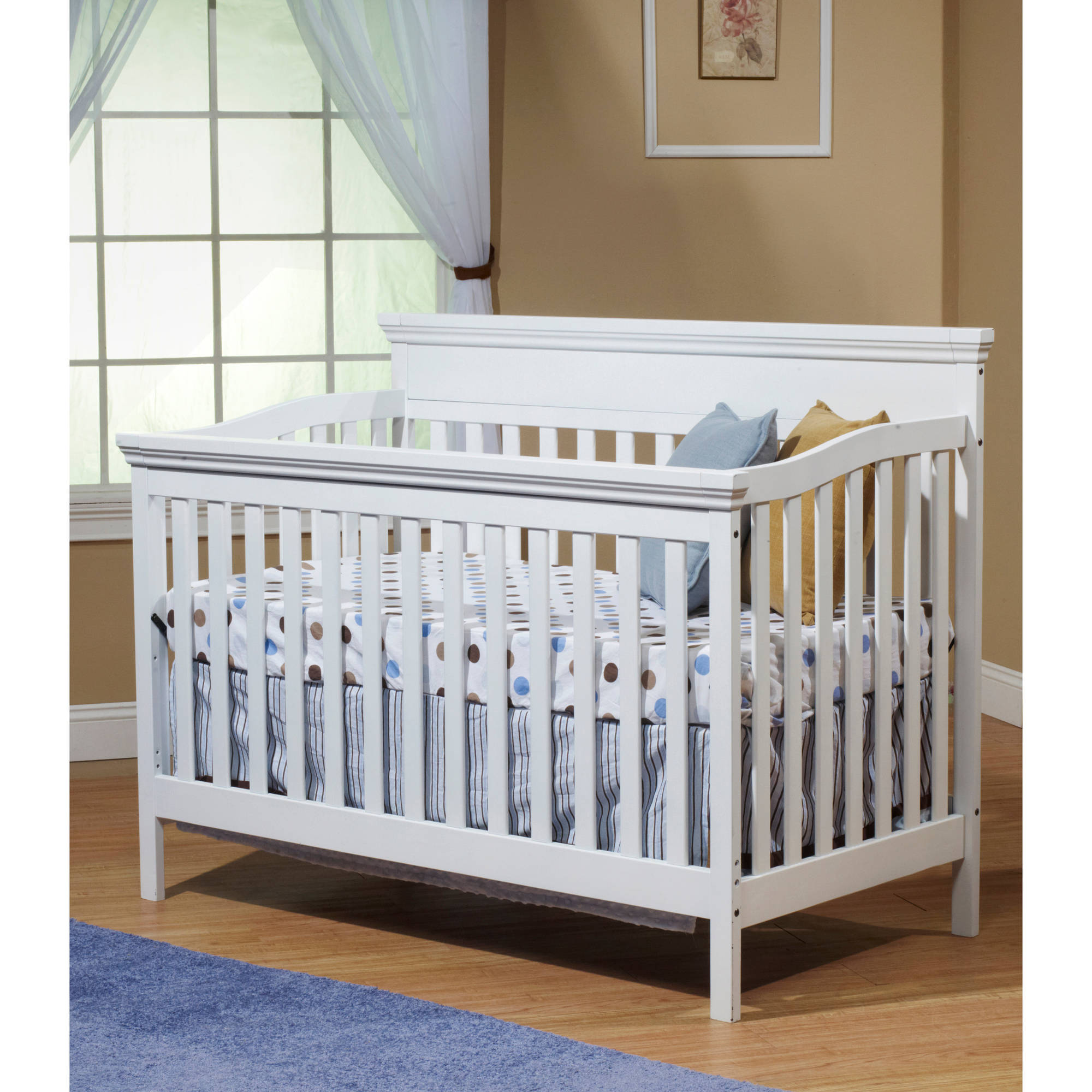 Sorelle Katherine 4-in-1 Convertible Fixed-Side Crib, White
