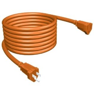 Stanley Heavy Duty Orange Outdoor Grounded Extension Cord 50'