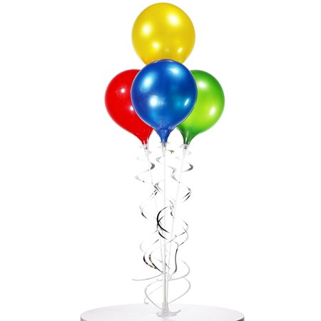 Table Top 4 Balloon Bouquet - Reusable and Helium Free](Balloon Helium)