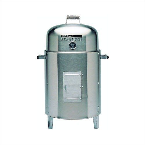 Brinkmann Smoke 'N Grill Stainless Steel Charcoal Smoker & Grill