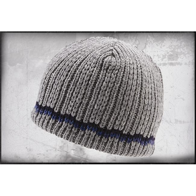 Icebox Dohm 7-2 Check Stripe Winter Hat - Grey eecabf3a551