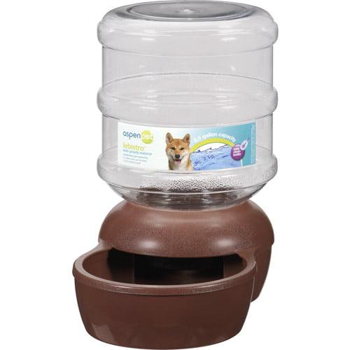 Aspen Pet LeBistro Auto Gravity 2.5 Gal Pet Waterer, Brown