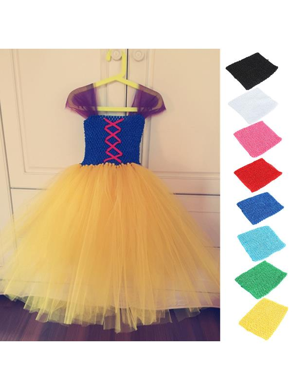"6""/9""/12"" Crochet Tube Top Breathable Strapless Bandeau Elastic Waistband Tutu Skirt DIY For Girls Toddler Baby Kids"