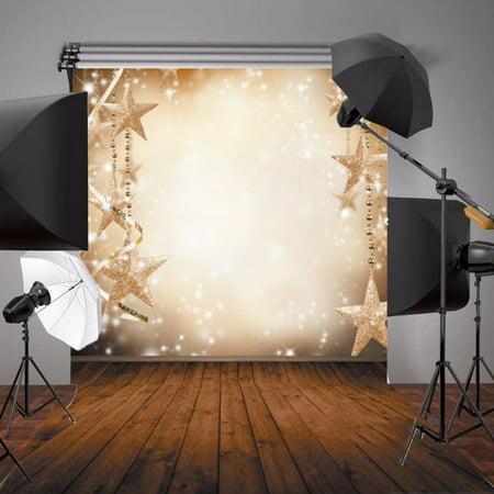 Star Wars Photo Backdrop (5x7FT Christmas Glitter Star Snow Photography Backdrop Wedding Newborn Baby Photo Studio Props)