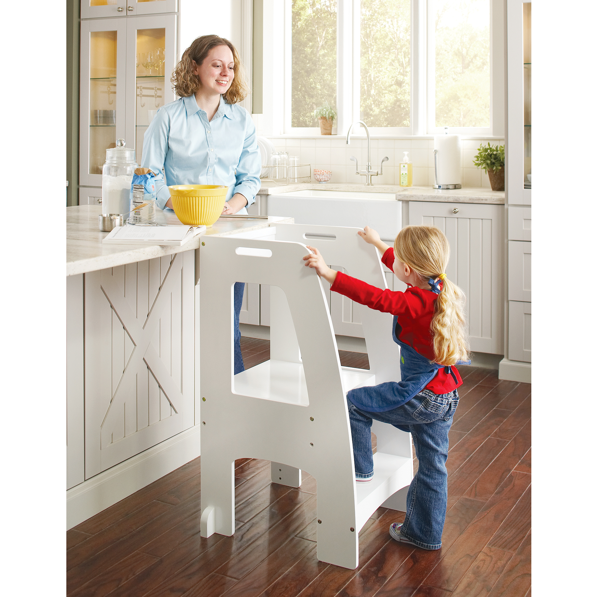 Step-Up Kitchen Helper - White - Walmart.com