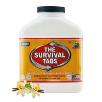Survival Tabs 15 Day 180 Tabs Emergency Food Survival MREs Meal Replacement for Disaster Preparedness Gluten Free and Non-GMO 25 Years Shelf Life Long Term - Vanilla Flavor