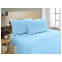 Home Sweet Home London 1800 Series - Microfiber Deep Pocket King Bed Sheets Set (Blue)