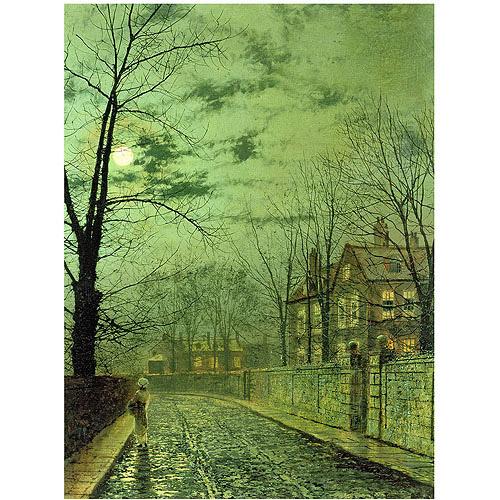 "Trademark Fine Art ""A Moonlit Road"" Canvas Art by John Atkinson Grimshaw"