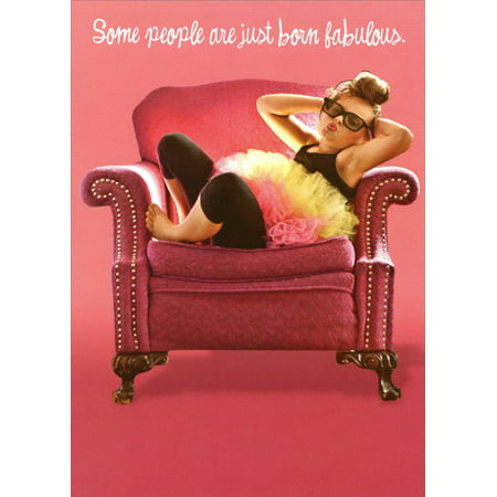 Recycled Paper Greetings Born Fabulous Funny / Humorous Feminine Birthday Card for Her - Fabulous Birthday