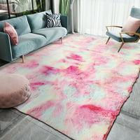 20x63inch/63x78.74inch Soft Fluffy Floor Rug Anti-skid Plush Shag Shaggy Non-slip Area Rug Living Room Carpet Mat  Indoor
