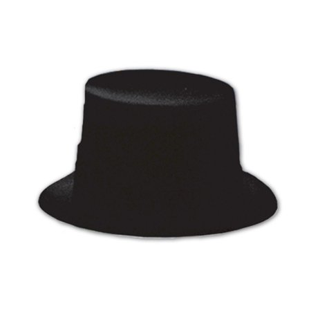 Club Pack of 24 Black Hollywood Themed Velour Topper Party Hats