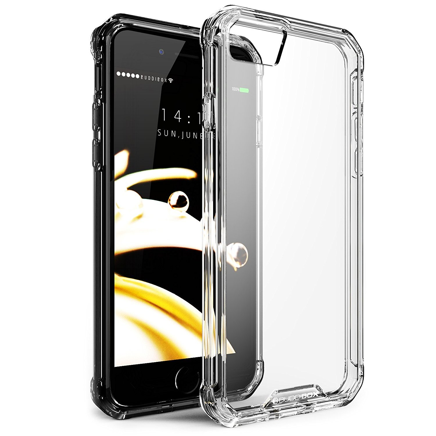 BUDDIBOX iPhone 7 Case [ICE] Scratch Resistant Clear Bumper Phone Cover Case for Apple iPhone 7