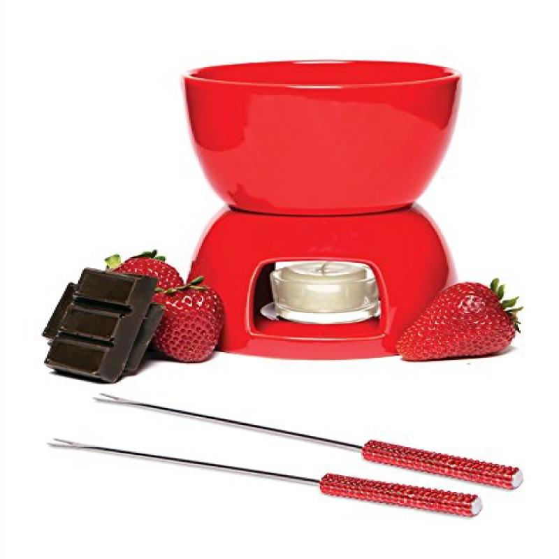 Chocolate Fondue Set Red by