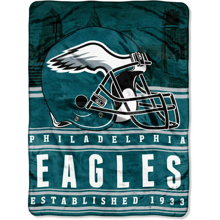 """NFL Philadelphia Eagles """"Stacked"""" 60"""" x 80"""" Silk Touch Throw by"""