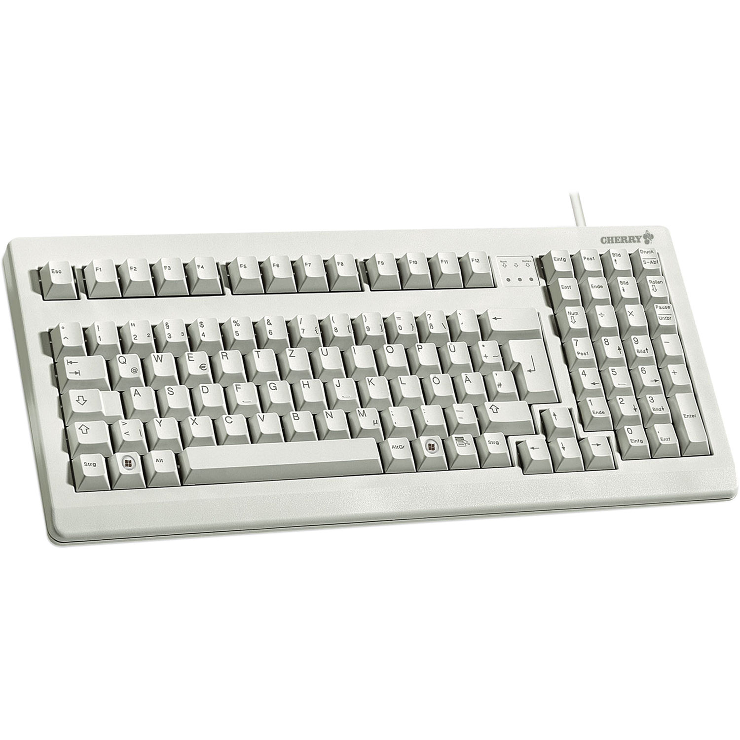 Cherry 16″ USB and PS/2 keyboard, Light Grey