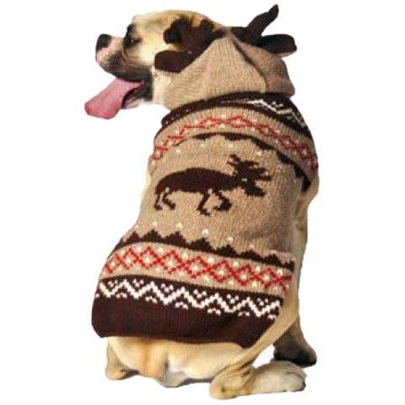 Chilly Dog Moosey Hoodie Dog Sweater - Halloween Chili Dogs