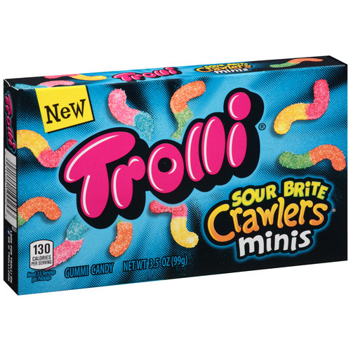 Trolli Sour Brite Crawlers Gummi Candy, 3.5 oz