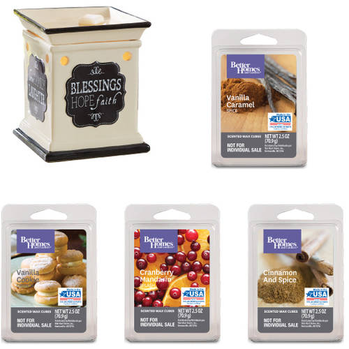 Better Homes & Gardens Inspirations Full-Size Wax Warmer Starter Set