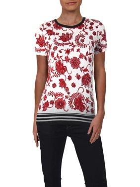 8fcd9c8b0 Product Image Lauren Ralph Lauren Womens Stripe Contrast Hem Graphic T-Shirt