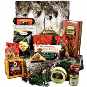 Happy Holidays Gourmet Cheese, Salami, Cheese, Nuts and More Gift Package