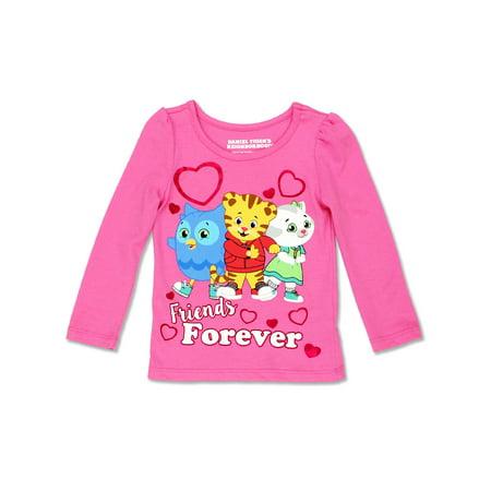 Daniel Tiger Toddler Girl's Long Sleeve Tee - Toddler Tiger
