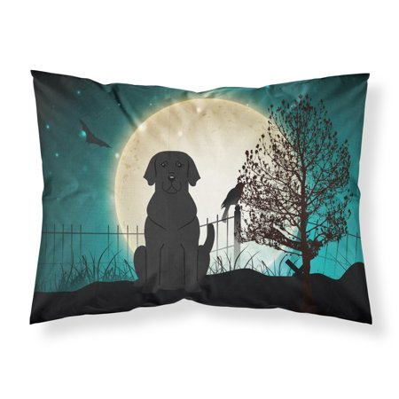 Halloween Scary Black Labrador Fabric Standard Pillowcase BB2247PILLOWCASE