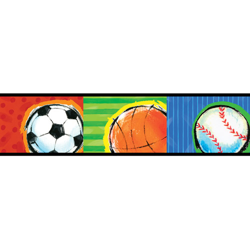 Brewster Home Fashions All Star Sports Wallpaper Border