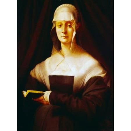 Uffizi Gallery - Maria Salviati by Jacopo Pontormo oil on panel 1537 Italy Florence Uffizi Gallery Poster Print