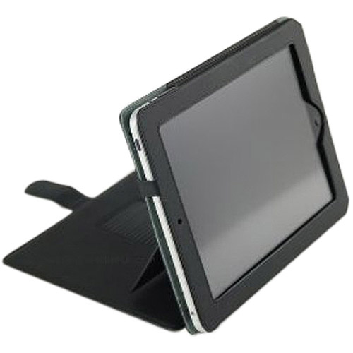 Green Onions Supply RT-IPADCSL02BL Multi-Stand Leather Case for Apple iPad