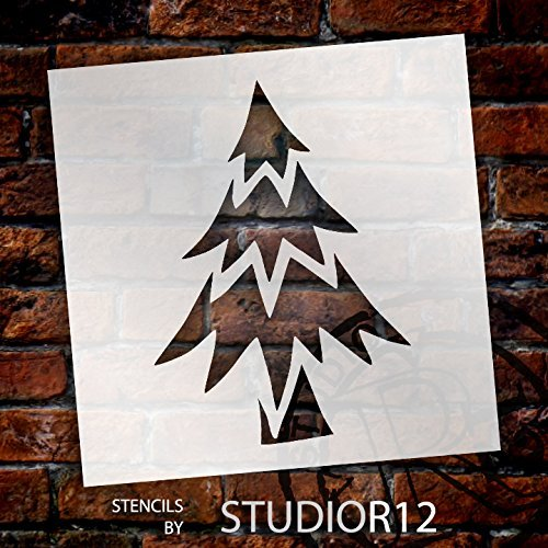 DIY Stencil Reusable Cake Stencil Christmas Tree Pattern Cookies Stencil Christmas Tree Stencil